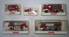 Wiking H0 Konvolut Feuerwehr 5-teilig