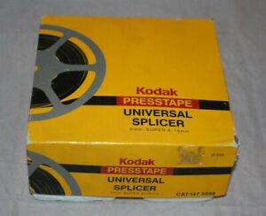 Kodak Presstape Universal Splicer 8 MM Super 8 16 MM Original Box Rare