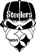Pittsburgh Steelers Vinyl Decal 3 sizes and 3 colors to pick from!!