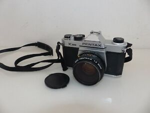 Pentax k1000 Spiegelreflexkamera Analog Kamera + SMC A 1:2 50mm Objektiv #1