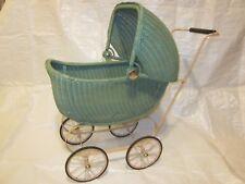 Lloyd Loom Products Wicker Doll Buggy Carriage Stroller ~ VINTAGE ~ FANTASTIC