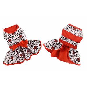 Doggie Design Holiday Dog Harness Dress Dress - Holly