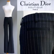Christian Dior Wool Pants Cabaret Sexy Sphinx Blue Pinstripe Silk Lined New $990