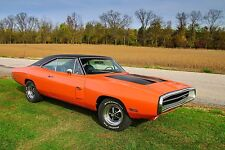 1970 Dodge Charger RT orange 24X36 inch poster, sports car, muscle car