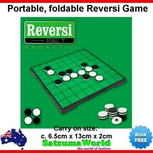 Reversi Othello Portable foldable travel game magnetic board carry on