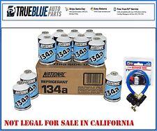 1 Case Of NATIONAL R-134a/R134a Refridgerant (12) TWELVE 12oz W/ FREE HOSE 401P