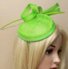 Large Lime Green Aliceband Hat Fascinator Hatinator Headband Ascot Ladies Day