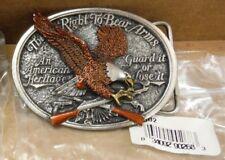 RARE 1985 - C & J Inc. USA - CJ1002 Right To Bear Arms Eagle Belt Buckle *d65