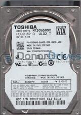 MK5065GSX, GJ002D, HDD2H82 D UL02 T, Toshiba 500GB SATA 2.5 Hard Drive
