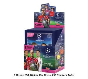 2019-20 TOPPS UEFA  CHAMPIONS LEAGUE STICKER 3 BOXES LOOK FOR HALAND ROOKIE