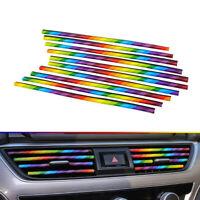 10x 6 Colors Universal Air Outlet Decoration Strip Car Decor Car Sticker Top New