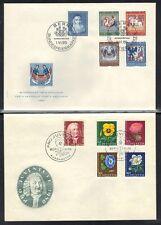 SWITZERLAND 1950-60's SIX PRO JUVENTUTE FDC's