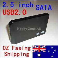 USB 2.0 Slim 2.5 SATA Hard HDD Drive Disk External Enclosure Case Toolless Caddy