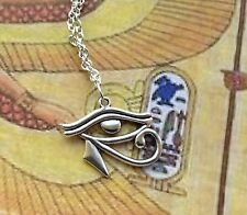 Eye Of Horus Ra Protection Pendant Charm Necklace Iron Maiden Egypt 18""