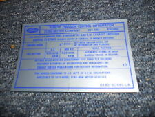 1971 FORD MUSTANG / MACH 1 351C 2V EMISSIONS DECAL