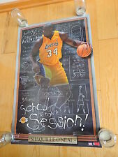 2003 Shaquille O'Neal School in Session Los Angeles Lakers NBA Basketball Poster