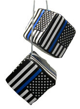 "3"" USA Police Memorial Thin Blue Line Law Enforcement Hanging Dice"