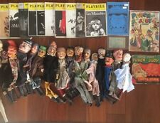 16 vintage wooden puppet Punch and Judy Lot 31pcs Total Playbills Theatre ticket