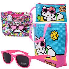 Hello Kitty 4-Piece Waterproof Beach Tote Bag w Kids Sunglasses Set Handbag Pink