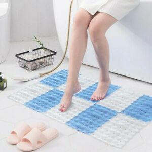 Anti-slip bathroom toilet mat 6 pieces set shower splicing PVC floor mat no slip