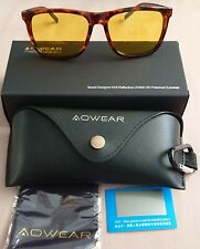 Aowear Unisex Gafas de visión nocturna Gafas Sol Polarizadas Amarillo Macho para hombres..