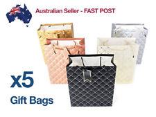 x5 Large Embossed Foil Paper Gift Bags Bag Wedding Bulk Vintage Jhook Metallic