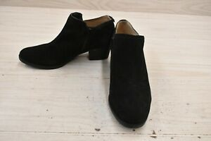 Naturalizer Zarie Suede Ankle Boots, Women's Size 8.5M, Black NEW