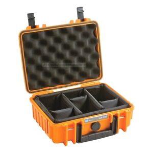 B&W Outdoor Case 1000 - mit Facheinteilung (RPD) - Schutzkoffer - orange