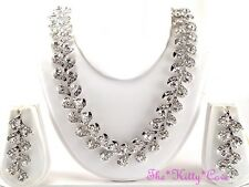 Ethnic Indian Hollywood Red Carpet Crystal Bridal Statement Collar Jewellery Set