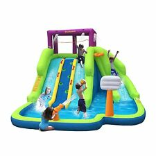 Kahuna 90360 Triple Blast Outdoor Inflatable Splash Pool Backyard Water Slide