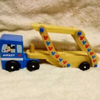 Melissa & Doug Toys Mickey Mouse Clubhouse Wooden Car Carrier Set without cars
