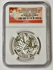 2013 Canada Piedfort S$5 Maple Leaf High Relief NGC Early Release PF 70 U/C