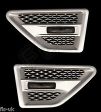 LAND ROVER FREELANDER 2 SIDE VENTS - SILVER INC REPEATERS-SMOKED - FL2SV-S-BR