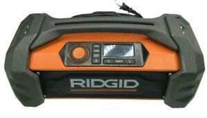 RIDGID 18V GEN5X PORTABLE DUAL-POWER JOB SITE BLUETOOTH RADIO R84087