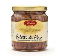 Filetti di Alici in olio di oliva vaso da 300gr selezione premium lavorato a man