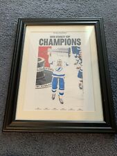 TAMPA BAY TIMES NEWSPAPER 9/29/20 Tampa Bay Lightning Poster FRAMED Stanley Cup