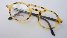 Filou Brille Brillenfassung Professorstyl Hornoptik Doppelsteg ovale Form Gr. L