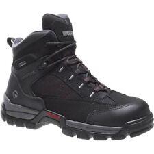 "Wolverine Men's Amphibian CarbonMax Safety-Toe Eh Gtx Wp 6"" Black Work Boots"
