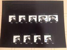 MIREILLE MATHIEU : PLANCHE CONTACT  DE 1974 (9 Photos)