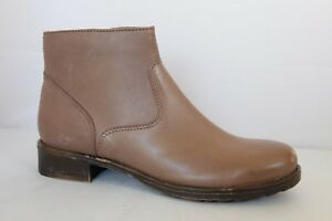 M&S Collection Boots Grey Real Leather Ankle Boots with Insolia Flex UK 7, UK 3