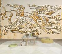 3D Drache Statue H3235 Tapete Wandbild Selbstklebend Abnehmbare Aufkleber Wend