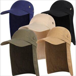 Ear Flap Sun Protection Visor Hat Neck Cover Baseball Cap Unisex Fishing Outdoor