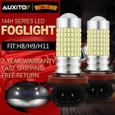 2x H11 H8 H9 Super Bright 144 Led Fog Light for Toyota Tacoma 6000K 2016-2019