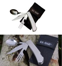 KABAR Hobo Tool w/ Slide Apart Locking Knife Fork & Spoon Stainless Steel Handle