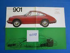 N°12338 /  rare dépliant PORSCHE type 901 texte français septembre 1963