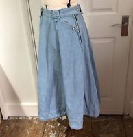 Vintage Levis Casual Skirt Size W28 Denim Fit Flare Midi 1950s Style Cottagecore