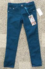 Girls Size 5 TRACTOR Teal Aqua Blue Skinny Slim Leg Pants Stretch Jeans 63280