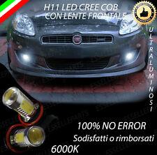 COPPIA LAMPADE FENDINEBBIA H11 LED CREE COB CANBUS PER FIAT BRAVO 6000K