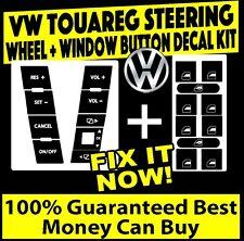 04-09 Volkswagen Touareg Steering Wheel + Window Matte Black Decals Sticker Set