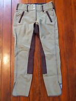 Goode Rider Full Seat Stretch Tan Riding Breeches Size 28R